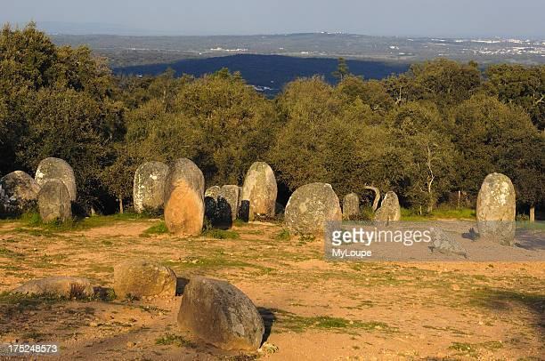 The Cromlech of Almendres near Evora Alentejo Portugal