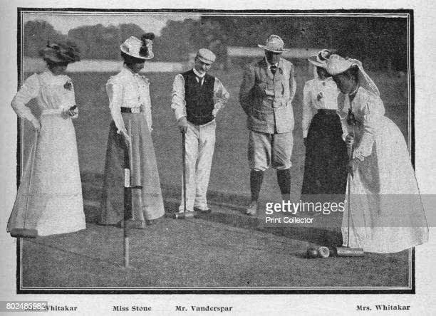 The Croquet Tournament at Southampton' 1900 From Black White Budget Vol III [The Black and White Publishing Company J P Monckton Leeds Manchester...