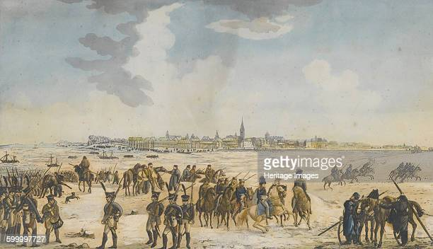 The Crossing of the Rhine near Düsseldorf by the Russian Army 13 January 1814 1814 Private Collection Artist Anonymous