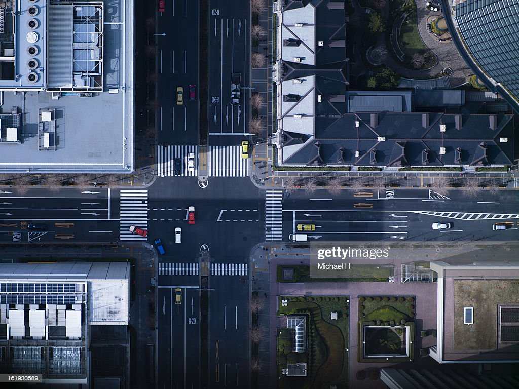The crossing way of Marunouchi in Tokyo : Stock Photo