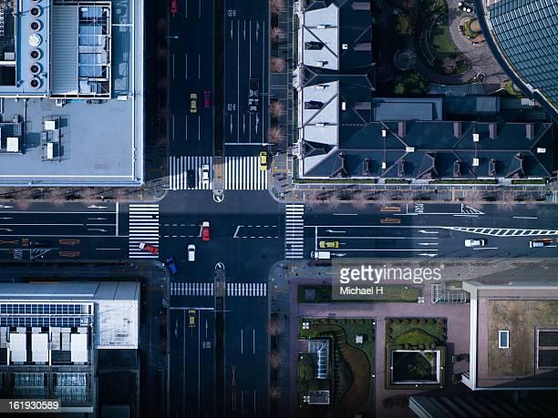 The crossing way of Marunouchi in Tokyo