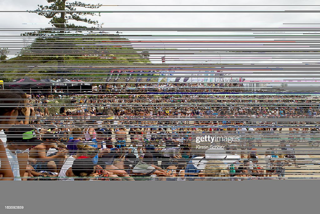 The crowd at Kirra for the final during the Quiksilver Pro on March 13, 2013 in Gold Coast, Australia.