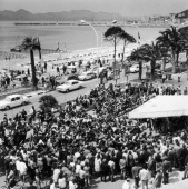 The Crowd Before The Palais Des Festivals In Cannes In 1968
