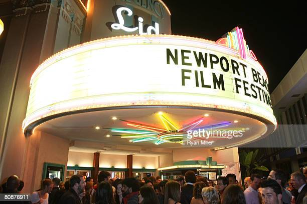 The crowd during the 2008 Newport Beach Film Festival Premiere of 'Lie to Me' held at the Lido Theater on April 26 2008 in Newport Beach California