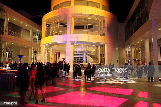 The crowd during the Pacific Standard Time Art in LA 19451980 opening event held at the Getty Center on October 2 2011 in Los Angeles California