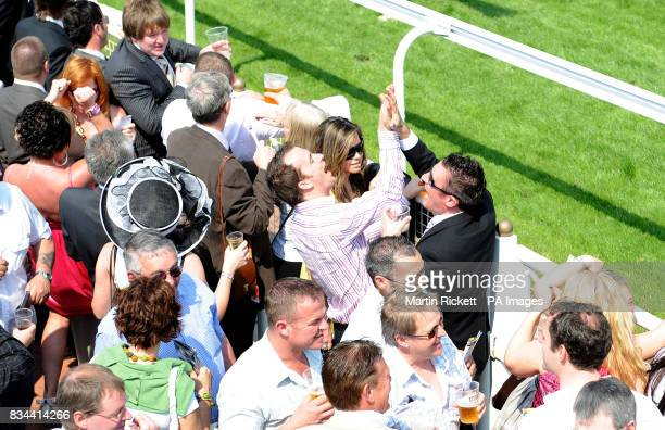 The crowd during the totesportcom Chester Cup Day meeting at Chester Racecourse