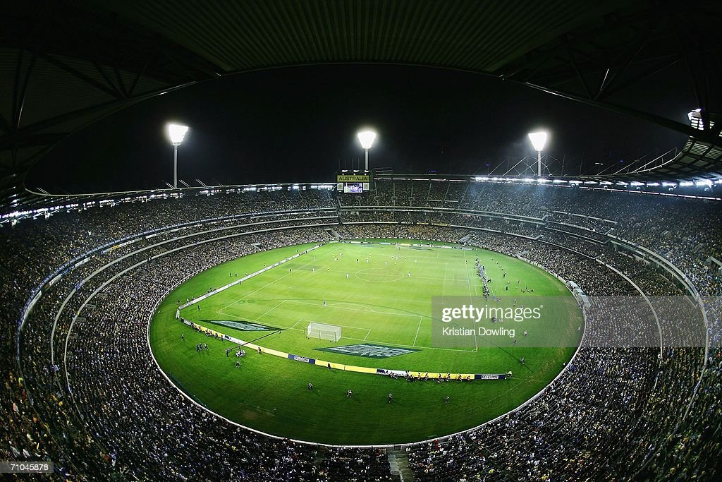 The crowd enjoy the action during the Powerade Cup international friendly match between Australia and Greece at the Melbourne Cricket Ground May 25, 2006 in Melbourne, Australia.