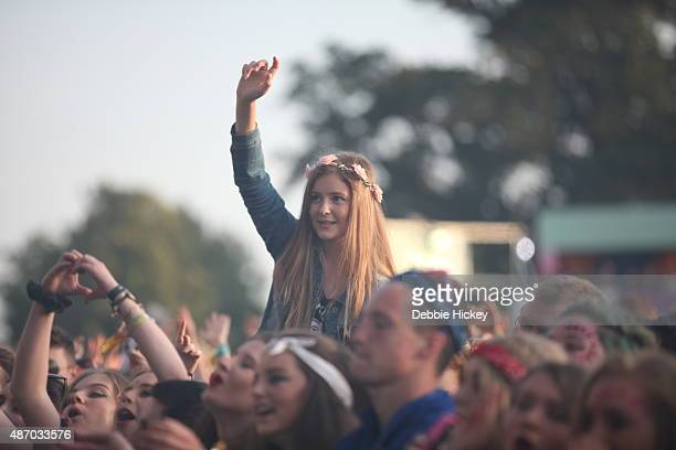 The crowd enjoy the atmosphere at day 2 of the Electric Picnic Festival at Stradbally Hall Estate on September 5 2015 in Stradbally Ireland