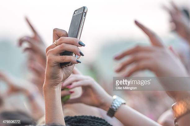 The crowd enjoying the atmosphere on Day 2 of New Look Wireless Festival at Finsbury Park on July 4 2015 in London England