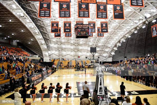 The crowd is shown during the national anthem as the Princeton Tigers host the Lehigh Mountain Hawks the before the game at L Stockwell Jadwin...