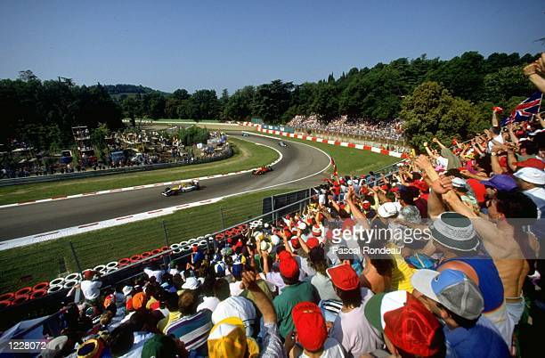 General view of the crowd watching the race during the San Marino Grand Prix at the Imola circuit in San Marino Mandatory Credit Pascal...