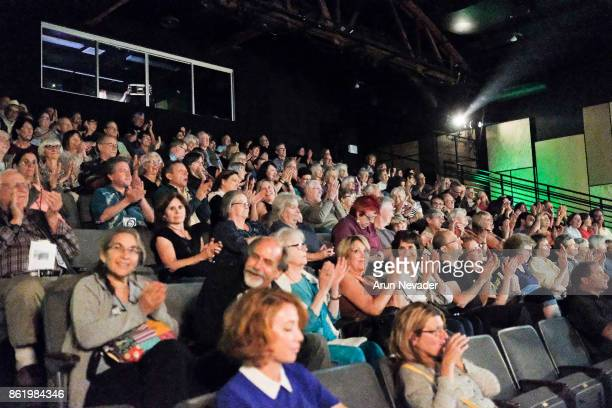 The crowd responds to the closing film The Legendary Giulia and Other Miracles at the Santa Cruz Film Festival at Tannery Arts Center on October 15...