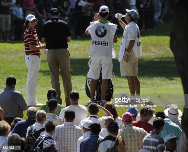 The crowd wait for Northern Ireland's Rory McIlroy to tee off the 3rd hole during Round 4 of the BMW PGA Championship at Wentworth Golf Club Surrey