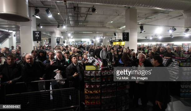 The crowd waiting for the stars of the show Matt Smith and Karen Gillan during an instore signing for the DVD boxset of BBC1 TV show Dr Who in...