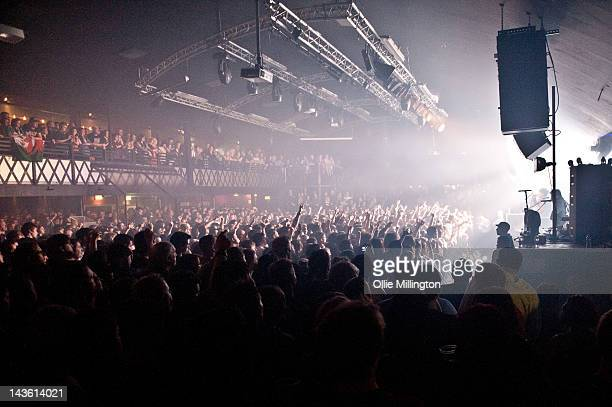 The Crowd watch as Lostprophets perform during the Weapons tour on stage at Rock City on April 30 2012 in Nottingham United Kingdom