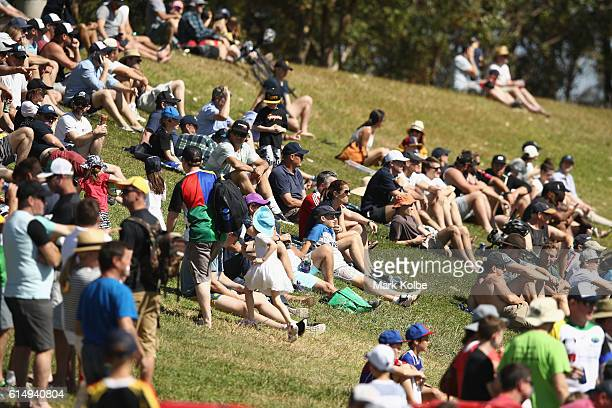 The crowd watch on during the NRC Semi Final match between the Sydney Rays and Perth Spirit at Pittwater Park on October 16 2016 in Sydney Australia