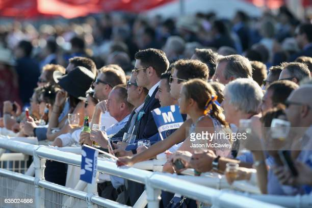 The crowd watch Winx compete during the Apollo Stakes at Royal Randwick Racecourse on February 13 2017 in Sydney Australia