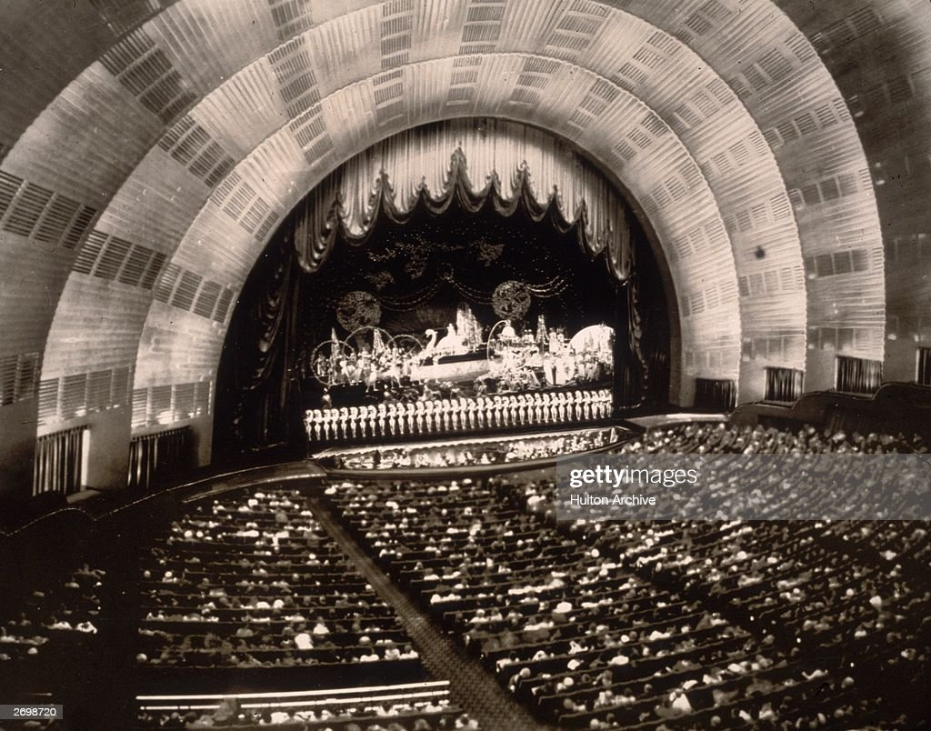 The crowd watching a show at the Radio City Music Hall inside the Rockefeller Centre, New York.