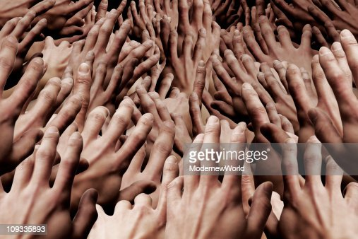 The crowded hands