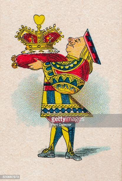 'The Crown' 1930 The Knave of Hearts carrying the King of Heart's crown on a crimson velvet cushion From Lewis Carroll's 'Alice in Wonderland' After...