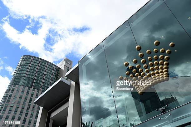 The Crown Ltd logo is displayed outside the Crown Melbourne casino and entertainment complex in Melbourne Australia on Wednesday Aug 21 2013 Crown...