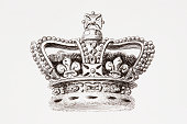 The Crown Of England From The Cyclopaedia Or Universal Dictionary Of Arts Sciences And Literature By Abraham Rees Published London 1820