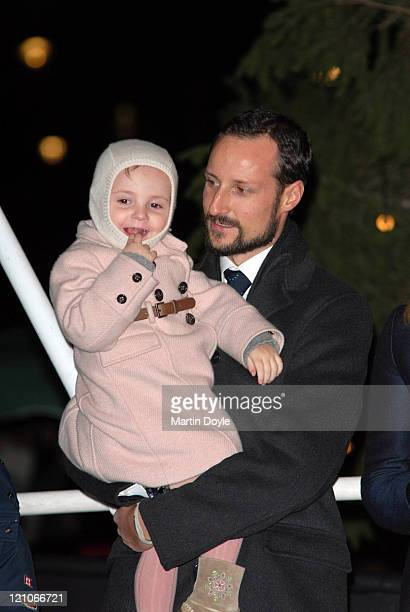 The Crown Prince Haakon and family during The Prince and Princess of Norway Turn On the Christmas Tree Lights in Trafalgar Square December 7 2006 at...