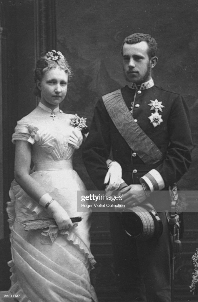 The crown prince of Austria Rodolphe (1858-1889) and the princess Stephanie of Belgium, his wife.