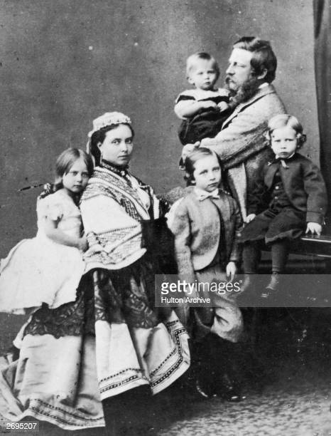 The Crown Prince of Prussia the future Friedrich III with his wife and family Friedrich was crowned Emperor on the death of his father but died of...