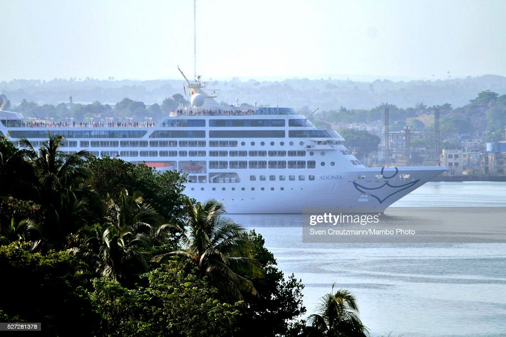 The cruise ship Adonia arrives in Havana, being the first US cruise ship in nearly forty years to arrive in Cuba, on May 2, 2016, in Havana, Cuba. The Adonia, belonging to the Carnival group, carried some 700 passengers on its sail from Miami to Havana, officially re-establishing the US cruise business in Cuba.