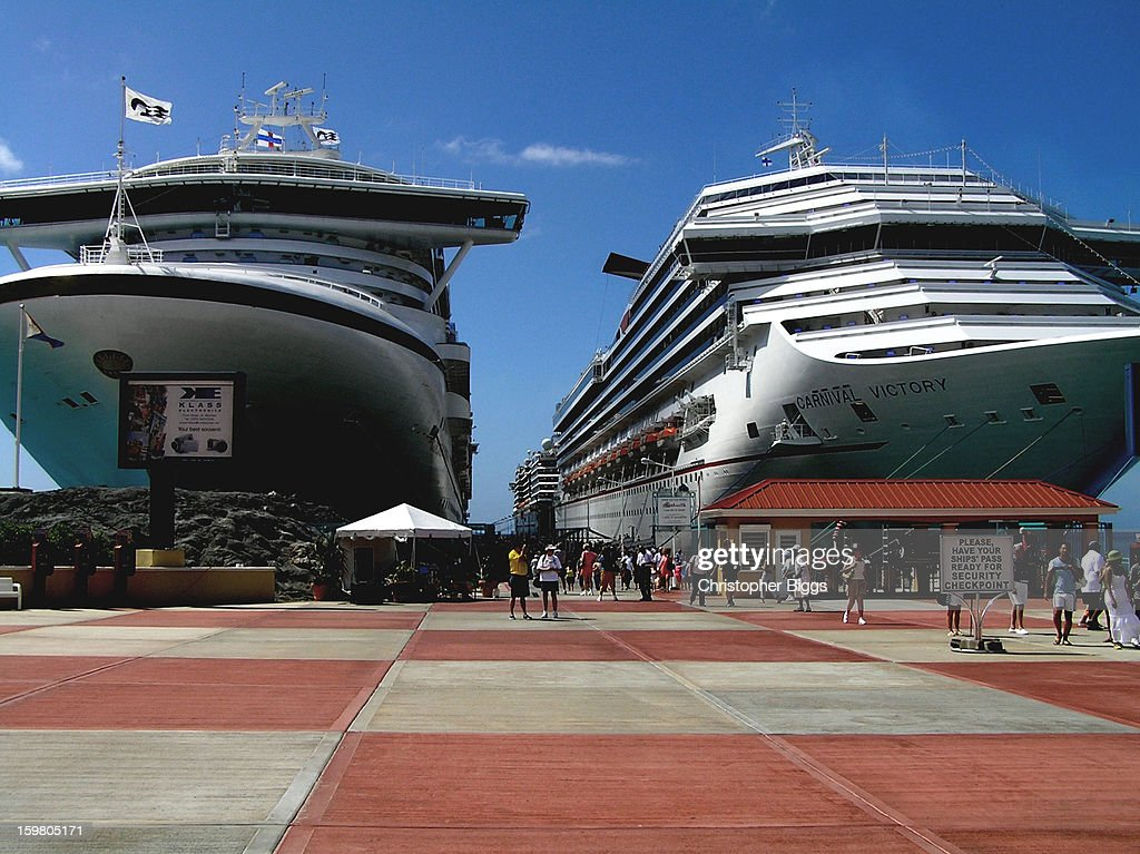 CONTENT] The cruise ships Golden Princess and Carnival Victory docked at St Maarten Island.