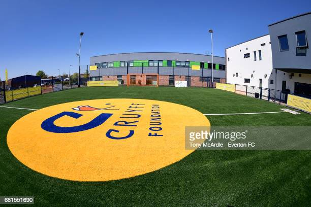 The Cruyff Foundation pitch at Everton on May 10 2016 in Liverpool England