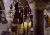 The Crypt of St Helena Basilica of the Holy Sepulchre or the Church of the Resurrection Old City of Jerusalem Israel
