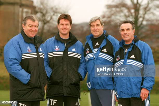 The Crystal Palace management team Terry Venables Terry Fenwick Ted Buxton and Dave Butler