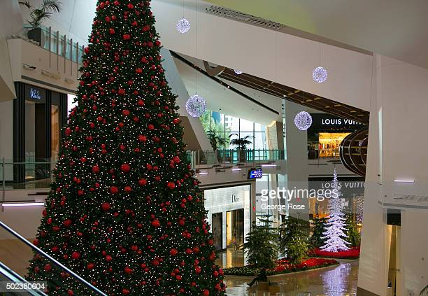 The Crystals a luxury shopping mall located next to the Aria Hotel Casino is decorated for the holidays on December 4 2015 in Las Vegas Nevada...