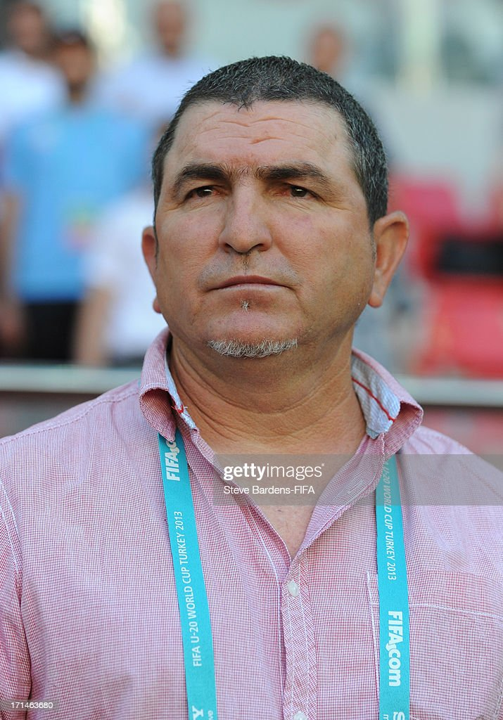 The Cuba manager <a gi-track='captionPersonalityLinkClicked' href=/galleries/search?phrase=Raul+Gonzalez&family=editorial&specificpeople=213309 ng-click='$event.stopPropagation()'>Raul Gonzalez</a> before the FIFA U-20 world Cup Group B match between Cuba and Nigeria at Kadir Has Stadium on June 24, 2013 in Kayseri, Turkey.