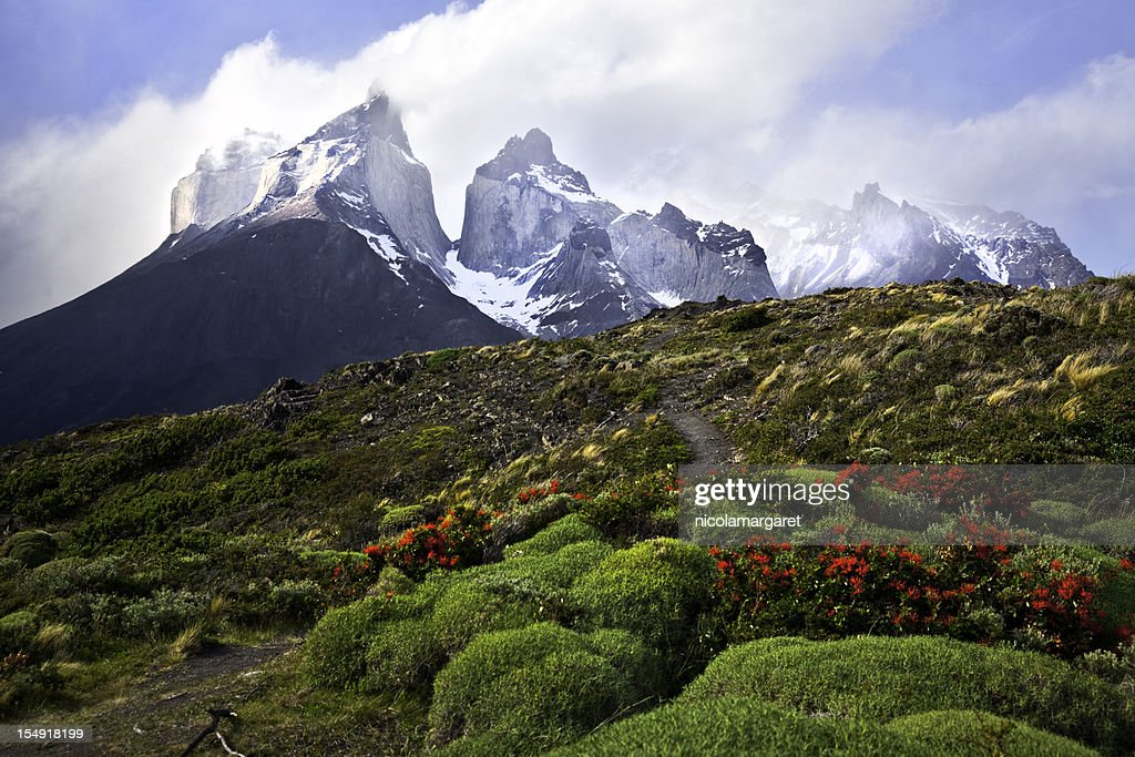 Die Cuernos (horns), Torres del Paine : Stock-Foto
