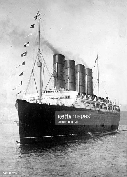 LUSITANIA 19081914 The Cunard ocean liner 'Lusitania' photographed 19081914