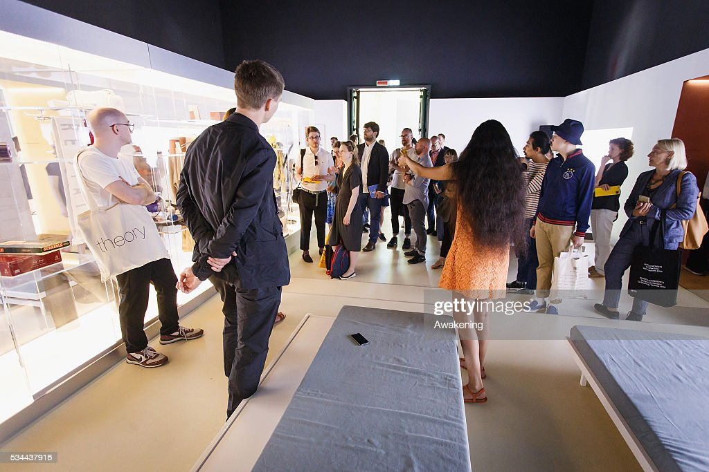The curators attends at the opening of the UK Pavillion at the Venice Biennale on May 26, 2016 in Venice, Italy. The 15th International Architecture Exhibition of La Biennale di Venezia will be open to the public from May 28 to November 27 in Venice, Italy.