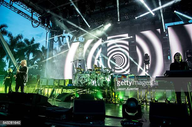 The Cure performs at Bayfront Park Amphitheater on June 26 2016 in Miami Florida