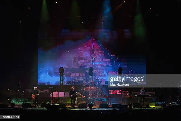 The Cure performs on stage during the Sasquatch Music Festival at Gorge Amphitheatre on May 29 2016 in George Washington