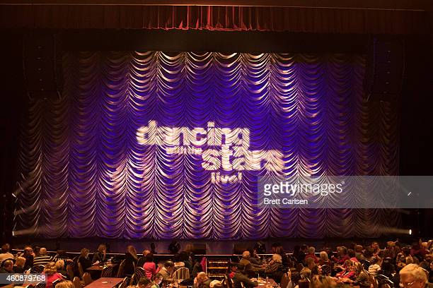 The curtain prior to the start of Dancing With The Stars Live Tour at Turning Stone on December 28 2014 in Verona New York