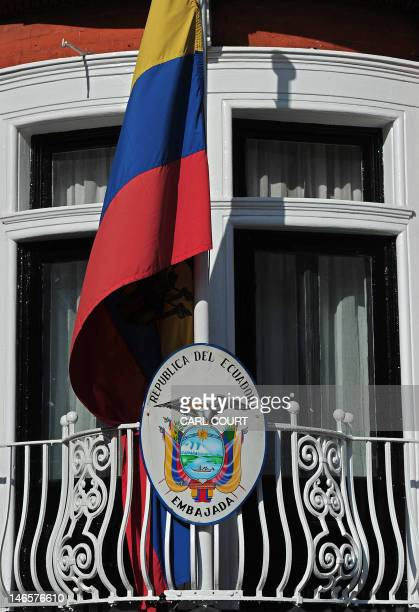 The curtains remain pulled across a window at the Ecuadorian Embassy in central London on June 20 where Wikileaks founder Julian Assange is seeking...