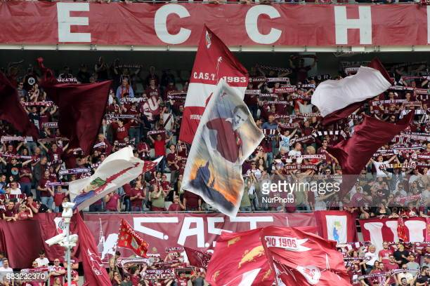 The Curva Maratona the heart of Torino FC fans during the Serie A football match between Torino FC and SSC Napoli at Olympic stadium Grande Torino on...