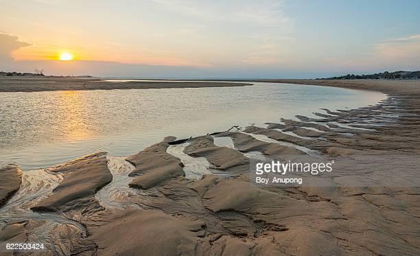 The curve of East Woody beach in Nhulunbuy town of Arnhem land, Australia.
