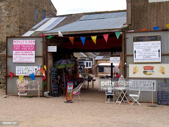 The Customs House Westby Dorset UK a complex of traders selling vintage items in an old building