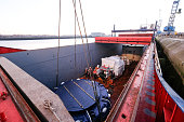 GBR: A Tunnel Boring Machine Is Unloaded At Teesside Port