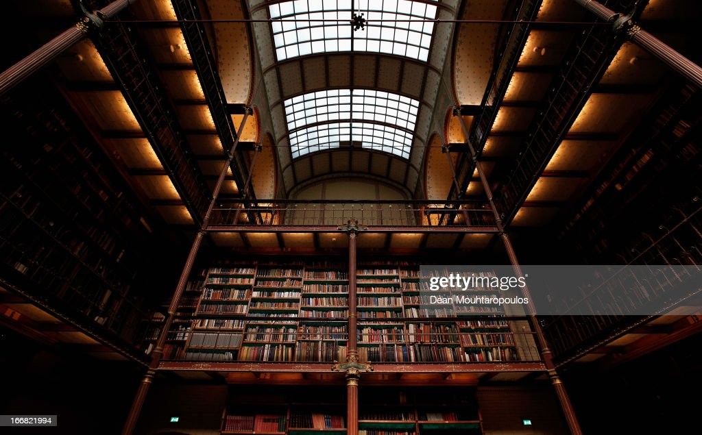 The Cuypers Library, the largest and oldest art historical library in the Netherlands is pictured four days after the Rijksmuseum Official Opening on April 17, 2013 in Amsterdam, Netherlands. The 10-year renovation of the Rijksmuseum is one of the most significant ever undertaken by a museum. The entire building has been renewed – the historic 19th-century building has been transformed and new public facilities have been created including a spectacular new entrance hall, a new Asian pavilion and renovated gardens. The museum features over 8,000 works of art and artefacts telling the story of 800 years of Dutch art and history, from the Middle Ages to the present day. The world-famous collection, including masterpieces by artists such as Frans Hals, Jan Steen, Johannes Vermeer and Rembrandt van Rijn, have been presented in chronological sequence for the first time, creating an awareness of time and a sense of beauty.