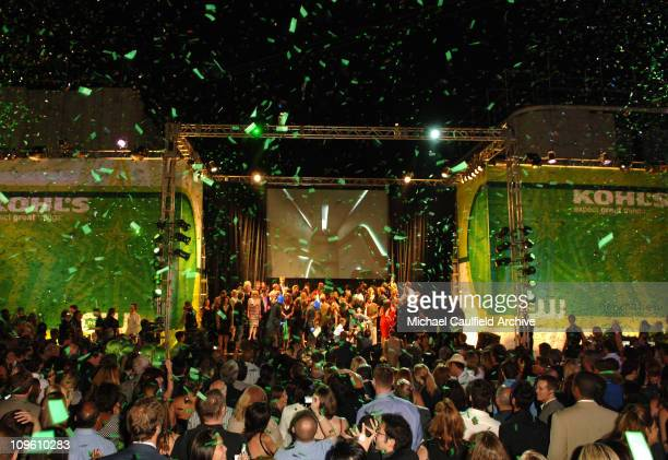 The CW Cast during The CW Launch Party Inside at WB Main Lot in Burbank California United States