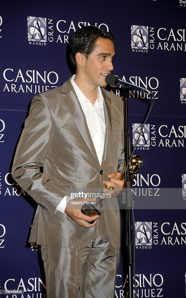 The cyclist Alberto Contador, winner of the award 'Golden Antenna', 27th September 2009, 'Gran Casino de Aranjuez', Aranjuez, Madrid.
